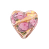 Pink Bed of Roses Heart 20mm Venetian Glass Bead