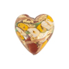 Maroon Bed of Roses Heart 20mm Venetian Glass Bead