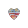 Rubino and Blue Ca'd'oro Swirl Heart 14mm, Murano Glass Bead