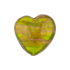 Peridot Aventurina Heart 20mm Murano Glass Bead