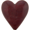 Murano Glass Bead Heart 24kt Gold Foil Red 35mm
