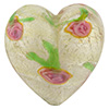 Romantico Heart Focal Bead 32mm White Gold