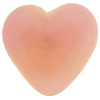 Peach Fuzz Pink Caramella Heart Cabochon 31mm, Venetian Glass Bead
