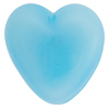 Aqua Blue Caramella Heart Cabochon 31mm, Venetian Glass Bead