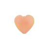 Pink Peach Fuzz Caramella Heart 13mm, Murano Glass Bead