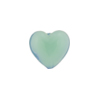 Pacific Opal Caramella Heart 13mm, Venetian Glass Bead