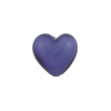 Murano Glass Bead, Purple Velvet Caramella Heart 13mm