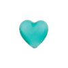Jade Celeste Caramella Heart 14mm, Venetian Glass Bead