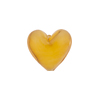 Lemon Zest Caramella Heart 14mm, Venetian Glass Bead