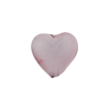 Lavender Purple Caramella Heart 14mm, Venetian Glass Bead