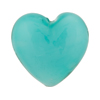 Jade Celeste Caramella Heart 25mm, Venetian Glass Bead