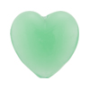 Chrysolite Green Caramella Heart 25mm, Venetian Glass Bead