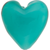 Jade Celeste Caramella Heart 35mm, Venetian Glass Bead