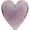Lavender Caramella Heart 35mm, Venetian Glass Bead