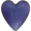 Purple Velvet Caramella Heart 35mm, Venetian Glass Bead