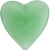 Chrysolite Green Caramella Heart 35mm, Venetian Glass Bead