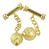 Cufflinks with 24kt Gold Foil Murano Glass Beads
