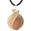 Chocolate Blown Murano Glass Pendant Necklace