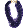SeedBead Necklace 54 Luxury Strands, 18 Inches Cobalt Beads