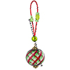 Red Green Aventurina Spiral Christmas Ornament Kit