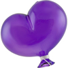 Purple Boro Glass Balloon, Large