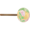 Pink Fiorato and 24kt Gold Foil Murano Glass Drawer Pull