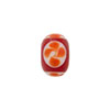 Murano Glass Lampwork Flower Rondel 8x12mm Opaque Red