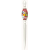 Letter Opener with Lampwork Murano Glass Bead, Oval  Dark Red Millefiori