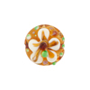Topaz Fiorato Lampwork Murano Glass Bead, 15mm Disc