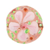 Pink Fiorato Lampwork Murano Glass Bead, 25mm Disc