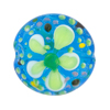 Aqua Fiorato Lampwork Murano Glass Bead, 25mm Disc