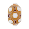 Murano Glass Lampwork Bead Rondel Big Dots 16x20 Topaz