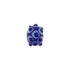 Murano Glass Lampwork Bead Rondel Stacked Dots 15x8 Opaque Cobalt