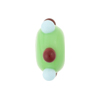 Murano Glass Bead Lampwork Wheel Light Green Multi Dots 8x14