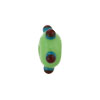 MMurano Glass Bead Lampwork Wheel Green w/ Red Multi Dots 8x14