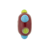 Murano Glass Bead Lampwork Wheel Red Multi Dots 8x14