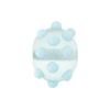 Aquamarine Dot Wheels 14mm Lampwork Venetian Bead