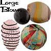 Large Blown Murano Beads
