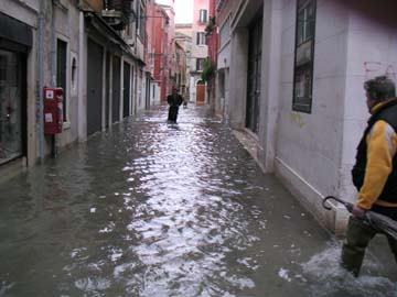 Leaving Apartment Floods in Venice Italy Nov 04