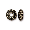 Brass Oxidized Plated Pewter Large Hole Cashbah Euro Bead