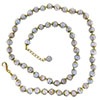 Pervinca Blue with Aventurina Authentic Murano Glass Beaded Necklace 26 Inches with 2 Inch Extender, Gold Tone Clasp