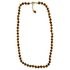 Transparent Topaz with Aventurina Authentic Murano Glass Beaded Necklace 26 Inches with 2 Inch Extender, Gold Tone Clasp