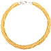 SeedBead Necklace 30 Luxury Strands, 18 Inches Gold Lined Silver Tone Clasp and Extender