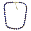 Cobalt Blue Murano Glass Necklace 16 Inches w/ 1 1/4  Inch Extender, Gold Tone Clasp and Murano Tag