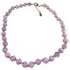 Rich Pink Murano Glass Necklace 16 Inches w/ 1 1/4  Inch Extender, Gold Tone Clasp and Murano Tag