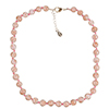 Rich Pink Murano Glass Necklace 16 Inches w/ 1 1/4  Inch Extender, Silver Tone Clasp and Murano Tag
