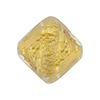 Clear with 24kt Gold Foil Ca'd'oro Bicone 22x18mm Venetian Bead