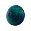 Aqua with 24kt Gold Foil Ca'd'oro Bicone 22x18mm Venetian Bead