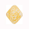 White Opaque 24kt Gold Foil Ca'd'oro Bicone 22x18mm Venetian Bead