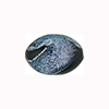Black Dichroic Oval Silver Sparklers 18mm